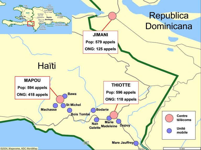 TSF's operations in Haiti and Dominican Republic in 2004