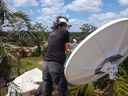 VSAT set up on the rooftop of the Matarara Coordination Center.