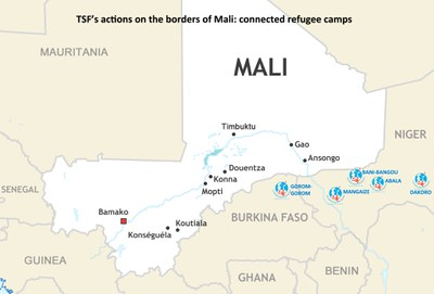 TSF's actions on the borders of Mali: connected refugee camps