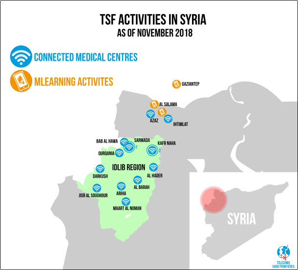 Syrian mission map