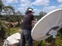 Installation d'une VSAT pour le Centre de Coordination de Matarara.