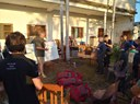 Brieifing des volontaires au Centre de Coordination de Matarara.