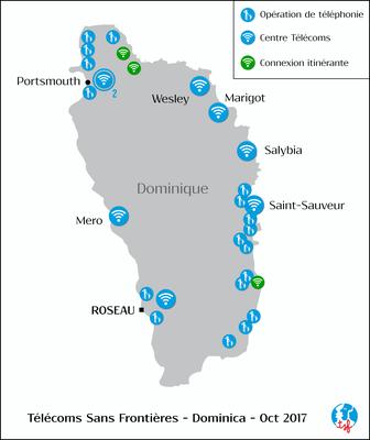 Activités de TSF en Dominique - Ouragan Maria - 2017