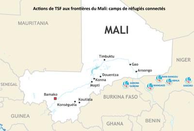 Actions de TSF aux frontières du Mali : camps de réfugiés connectés