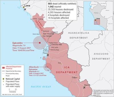 Pérou - Séisme d'Ica 2007