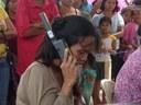 Opération de téléphonie aux Philippines après le passage du typhon Haiyan en 2013. Equipement utilisé : ISATPhone Pro